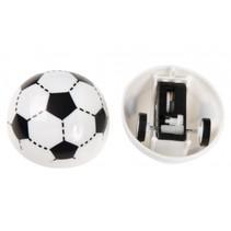 rijdende voetbal met pullback per stuk 4 cm zwart/wit