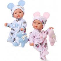 babypopkleding Pyjama meisjes textiel blauw 2-delig