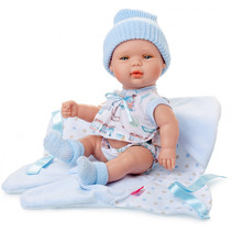 babypopkleding Baby Smile meisjes textiel blauw