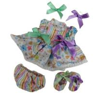 babypopkleding meisjes textiel 3-delig