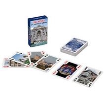 speelkaarten Roma karton blauw 56-delig