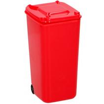 pennenbakje container 9,5 x 8 x 15,5 cm polypropyleen rood