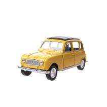 schaalmodel Renault 4 jongens 12 cm staal geel