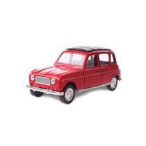 schaalmodel Renault 4 jongens 12 cm staal rood
