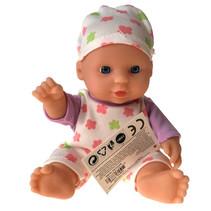 babypop meisjes 20 cm rubber wit/paars 3-delig