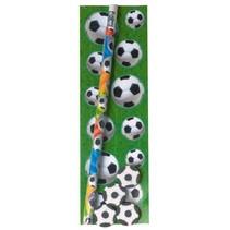 tekenset voetbal met stickervel 6-delig