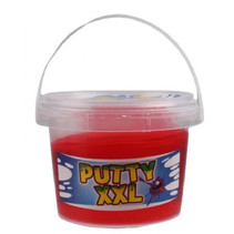 slijmemmer Putty XXL glitter junior 350 gram rood