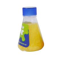 slijm in laborantenfles junior 13 cm geel