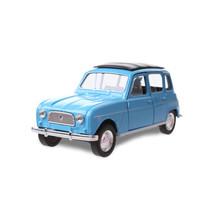 schaalmodel Renault 4 jongens 12 cm staal blauw