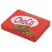 chocoladereep 10 x 8 cm hout rood/bruin