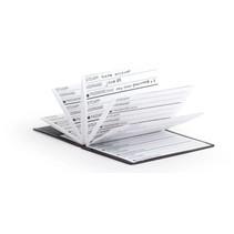 notitieboek wachtwoorden 8,6 x 11,2 cm papier rood