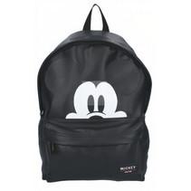rugzak Mickey Mouse 18 liter polyurethaan zwart