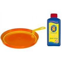 bellenblaasset 250 ml blaasring met bak oranje
