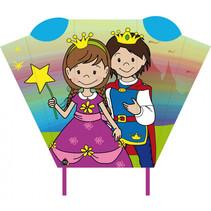 vlieger Magic Kite Pocket Sled prins & prinses 2-delig
