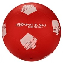 Voetbal PVC 21 cm Rood Per Stuk