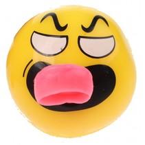 Flashing bal met lichteffect boos 5 cm geel