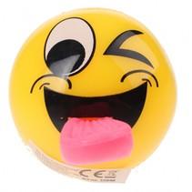 Flashing bal met lichteffect knipoog 5 cm geel