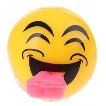 Flashing bal met lichteffect ogen dicht 5 cm geel