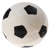 bal voetbalprint 21 cm wit