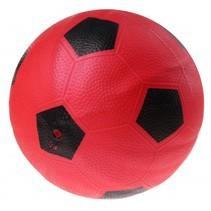 bal voetbalprint 21 cm rood