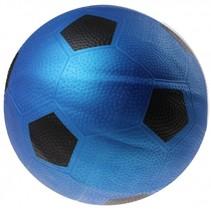 bal voetbalprint 21 cm blauw