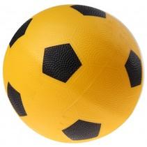 bal voetbalprint 21 cm geel