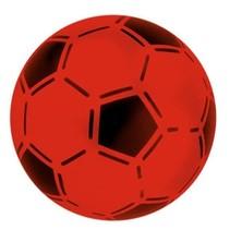 bal voetbalprint rood 21 cm