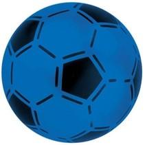 bal voetbalprint blauw 21 cm