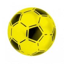 bal voetbalprint geel 21 cm