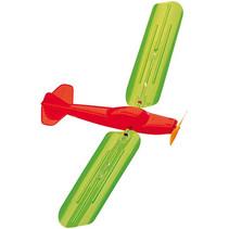 vlieger vliegtuig junior 48 x 21 cm groen/oranje