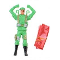parachutespringer soldaat groen 11 cm