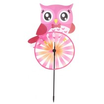 windmolen uil 60 cm roze