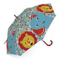 kinderparaplu Friends olifant & leeuw PE rood
