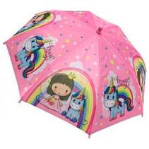 kinderparaplu Magic Princess meisjes 38 cm roze