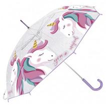 kinderparaplu Unicorn meisjes transparant 82 cm EVA