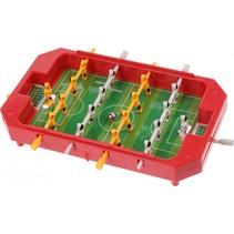 mini tafelvoetbalspel rood 17 x 12,5 x 3 cm