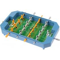 mini tafelvoetbalspel blauw 17 x 12,5 x 3 cm