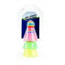 badmintonshuttles multicolor 3 stuks 7 cm