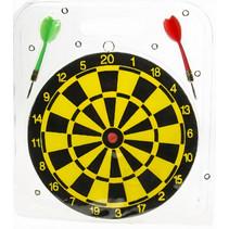 dartspel junior 22,5 cm zwart/geel 3-delig