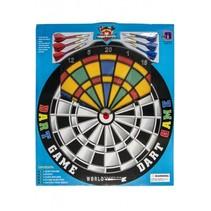 dartbord Safety met 6 plastic pijlen 45 cm