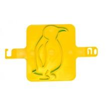 strandzegel pinguïn 8 cm geel