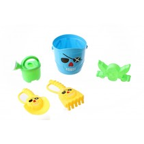 strandspeelgoed set piraat 15 cm 5-delig blauw