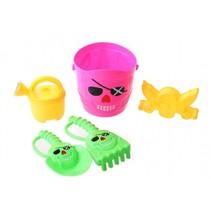 strandspeelgoed set piraat 15 cm 5-delig roze