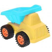 zandvrachtwagen 20 cm geel/blauw