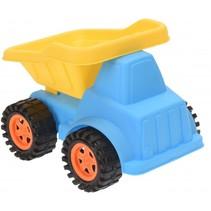 zandvrachtwagen 20 cm blauw/geel