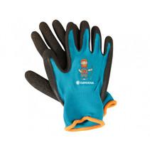 handschoenen Garden polyester blauw/zwart 2-delig