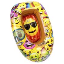 opblaasboot Emoji junior 90 cm PVC geel