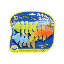opduikvissen 11 cm groen/oranje/blauw 3-delig