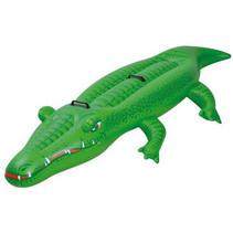 opblaasdier krokodil 110 x 200 cm vinyl groen