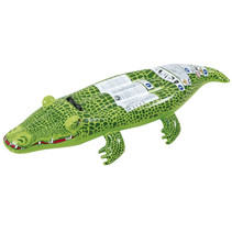 opblaasdier krokodil 68 x 162 cm PVC groen